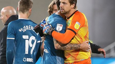 Tim Krul pulled off a top save to deny Ivan Toney in Norwich City's 1-1 Championship draw at Brentfo