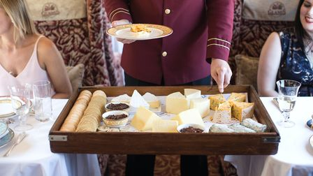 The meal also includes a cheeseboard with crackers and chutney Picture: Helen Cathcart