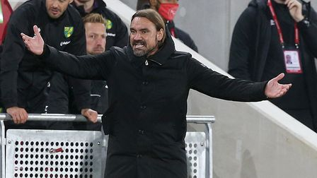 Daniel Farke is happy with the points return, but does want to see improvement from his squad. Pict