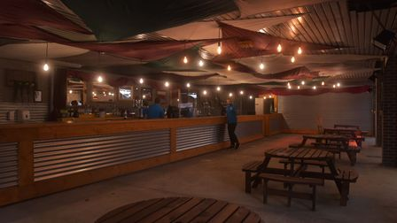 Marquee of St Benedicts featured a 19m long bar, live music and street food. Picture: Brittany Woodm