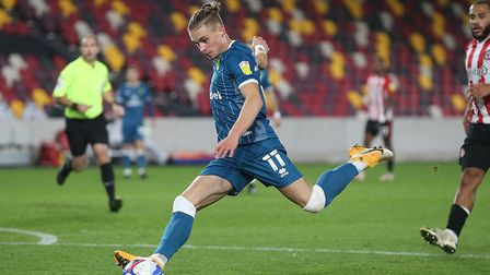 Przemek Placheta in action for Norwich City at Brentford on Tuesday Picture: Paul Chesterton/Focus I