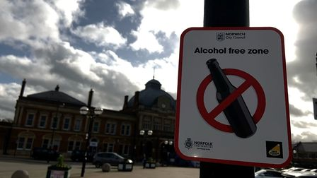 The alcohol free zone comes into affect on Friday, October 30, at Norwich Station. Picture: Greater