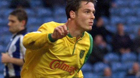 Scott Parker celebrates scoring for Norwich at Sheffield Wednesday while on loan from Charlton in 20