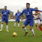 Shirley D Whitlow's photograph of Lowestoft Town v Stratford Town. 24th October 2020. Photo shows L