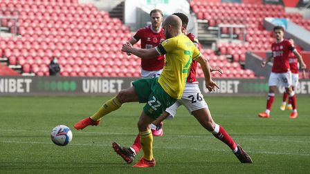 Pukki profited from a wonderful pass from Stiepermann. Picture: Paul Chesterton/Focus Images Ltd