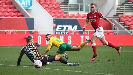 Emi Buendia's goal at Bristol City earned him a place in the Championship Team of the Week. Picture