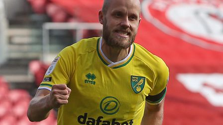 Teemu Pukki was on target for Norwich City in a 1-0 Championship win at Middlesbrough Picture: Paul