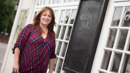 Dawn Hopkins, owner and landlady of The Rose in Norwich. Picture: SARAH LUCY BROWN