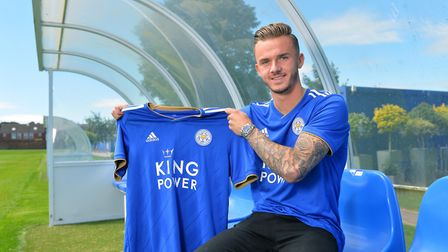 James Maddison's move to Leicester City saved Norwich City Picture: LCFC/Plumb Images via Getty