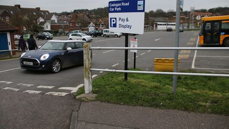 Cadogan Road car park in Cromer is one of several which will be free to use on Remembrance SUnday. P
