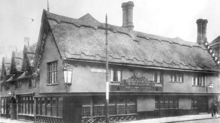 The Old Boars Head on Surrey Street was a 15th century building Photo: Archant