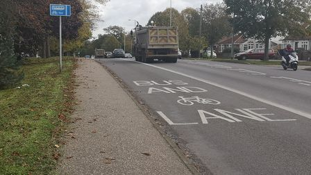 Campaigners have said not opening the bus lane on Dereham Road to other traffic causes congestion. P
