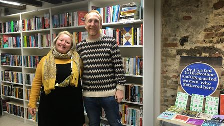 Dan and Leanne Fridd, owners of Bookbugs and Dragon Tales on Timberhill, Norwich. Picture: Sophie Wy