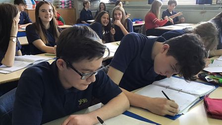 Year 10 students studying French at City of Norwich School in 2019. Picture: Ormiston Academies Trus
