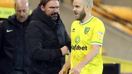 Teemu Pukki was substituted late on in Norwich City's 1-0 Championship win over Birmingham City Pict