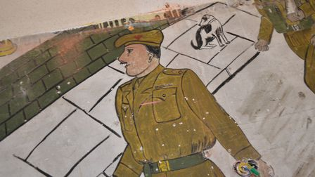 Murals from 1944- 45 by a Norwich soldier were uncovered at a Belgium school. Picture: Bram Dierckx