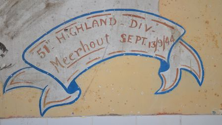 The school in Belgium was about to be demolished when the Second World War murals were discovered. P