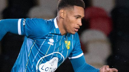 William Hondermarck was among the Norwich players to go close to an equaliser against Leeds U23s Pi