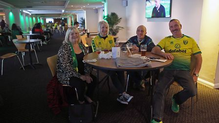 Norwich fans enjoying being allowed into the Gunn Club at Carrow Road to watch Saturday's match agai