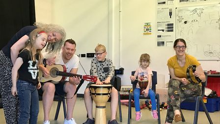 A Musical Keys session at Norwich City College. Picture: Geraldine Scott