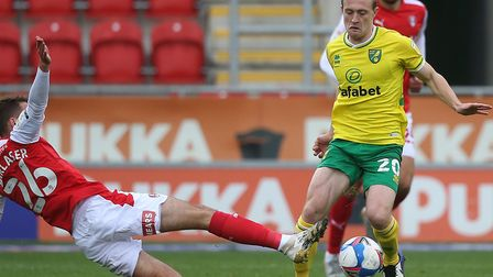 Olly Skipp was fortunate to escape serious injury at Rotherham Picture: Paul Chesterton/Focus Image