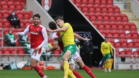 Jordan Hugill grabbed his chance with a goalscoring first league start for Norwich City Picture: Pau