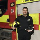 Joshua Finbow has raised over £460 and counting for the Fire Fighters Charity by completing the grue