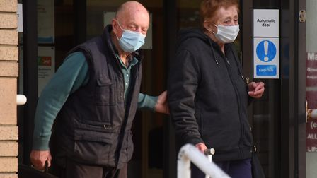 Michael, 77, and Irene Gant, 74, leave Great Yarmouth Magistrates Court after being given a criminal