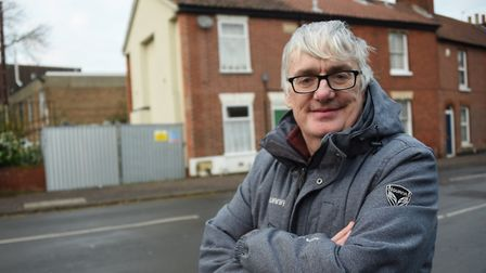 Neil Harrison, who was living in the house when it collapsed. back at Finkelgate in 2019. Picture: D