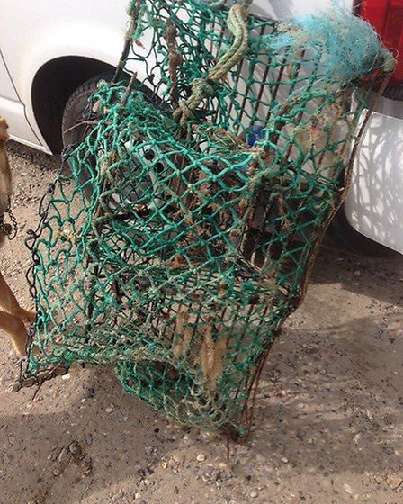 A lobster pot. Sarah Lloyd said whenever whole or part lobster pots washed up, they were always miss