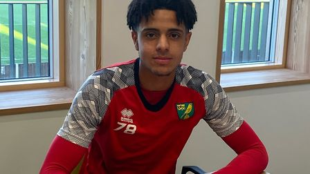 Andrew Omobamidele put pen to paper on his first professional deal for the club in 2019. Picture: No