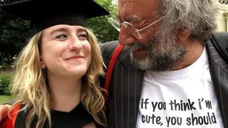 Jo Goodman with her father Stuart Goodman who died in Norwich in April after contracting coronavirus