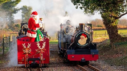 Santa will deliver gifts to youngsters on the Bure Valley Railway in a new event for 2020. Image: Bu