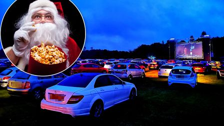 Pop Up Pictures' drive-in cinema at the Norfolk Showground is back for Christmas. Pictures: Brittany