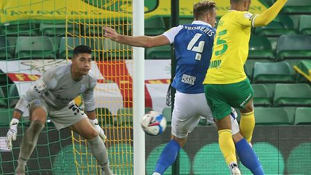 Adam Idah was involved in the move that led to Norwich City's winner against Birmingham Picture: Pa