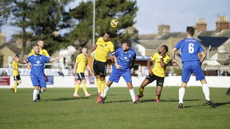 Action from Lowestoft Town FC v Rushall Olympic 17th October 2020.