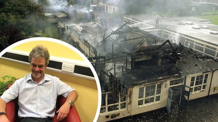 Tim Lawes who has retired as headteacher at Catton Grove fter 21 years, a period that saw a fire at