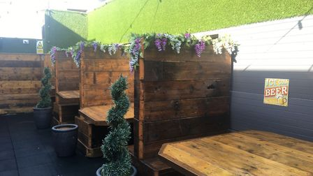 The outdoor terrace at The Jube proved a bit hit during the summer. Managing director Bradley Fish i
