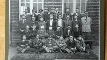 Priory School reunion at Time and Tide Museum, Great Yarmouth. Class photo from 1952.