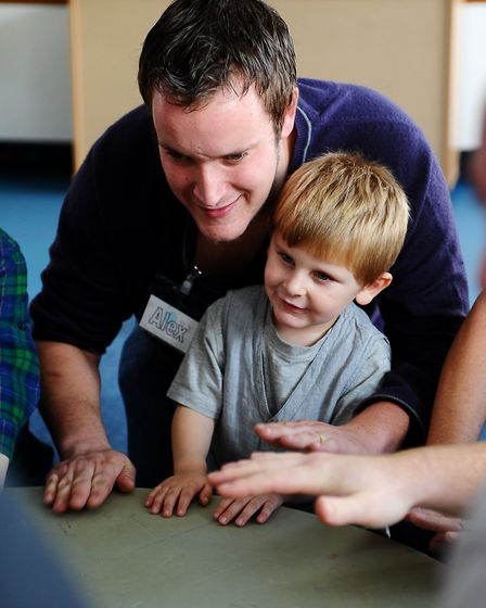 The Great Yarmouth Fathers Project at the Priory Childrens Centre. Dads enjoying mixing with other