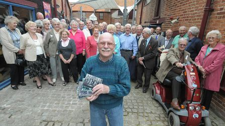 Priory School reunion at Time and Tide Museum, Great Yarmouth. Colin Brown (front) with former pupil