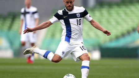 Teemu Pukki helped Finland record a win on his international return. Picture: Niall Carson/PA
