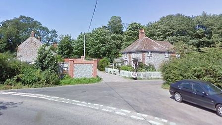 Horsey Methodist Church, which has been used as a polling station, is at the end of the road picture