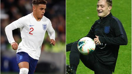 Norwich City players Max Aarons, left, and Oliver Skipp are in the England U21s squad for tonight's