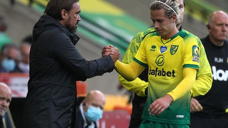 There's been no love lost between Todd Cantwell and Daniel Farke over the past week. Picture: Paul C
