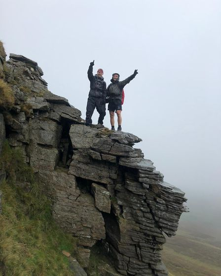 A group from the North Walsham Rugby Club completed the Yorkshire Three Peaks Challenge, raising mon