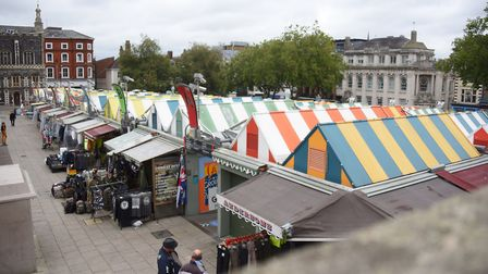Traders on Norwich Market have fears over survival due to coronavirus . Picture: DENISE BRADLEY