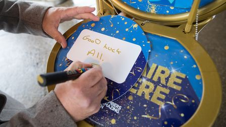 National Lottery winner, Terry Falgate from Stalham, returned to the store that sold his millionaire