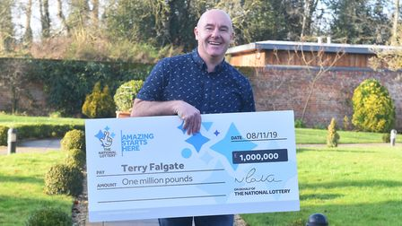 Terry Falgate after his £1 million win. Picture: Brittany Woodman