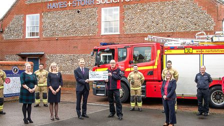 Law firm Hayes + Storr has donated 1,000 to the Fire Fighters Charity to thank them for saving the b